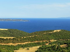 Ammouliani island panorama in Chalkidiki Northen Greece