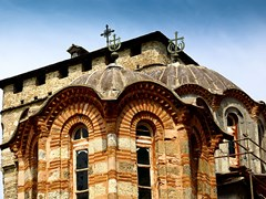 Dome-of-Serbian-Christian-Orthodox-Monastery-Hilandar.-Holy-Mount-of-Athos-Chalkidiki-Greece---republic-of-monks