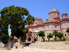 Monastery-Xenofontos-on-Mount-Athos,-Chalkidiki,-Greece-(3)
