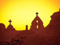 18_The-Church-of-Panagia-Paraportiani-at-sunset,-Mykonos-Island,-Greece