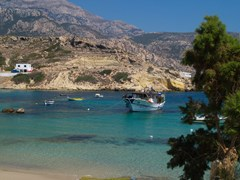 09_Karpathos-Overall-view-of-paradisiac-Lefkos-Bay,-in-the-island-of-Karpathos---Greece